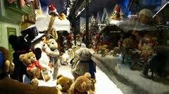Europe German Christmas Advent Fair Market Xmas shopping - stock footage