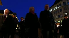 Time-Lapse Europe German Christmas Advent Fair Market Xmas - stock footage