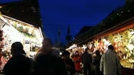 Time-Lapse Europe German Christmas Advent Fair Market Xmas Stock Footage