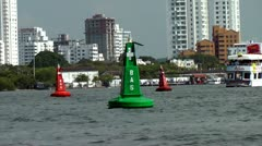 Buoy, Water, Ocean, Sea, Safety Marker - stock footage