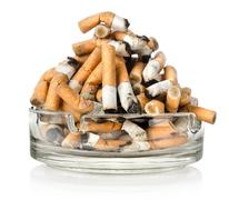 Ashtray and cigarettes Stock Photos
