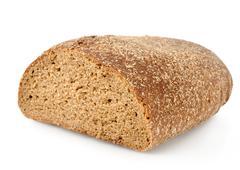 Black rye bread isolated Stock Photos