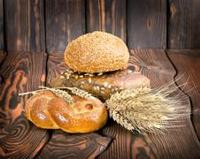 bread food background - stock photo