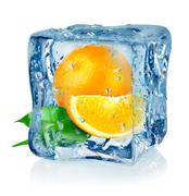 Stock Photo of ice cube and orange