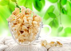 popcorn in a cup - stock photo