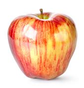 striped apple - stock photo