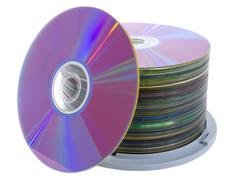 pile of cd disks - stock photo