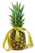 Ripe juicy pineappl Stock Photos