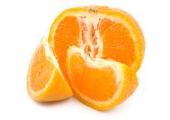 ripe tangerine - stock photo