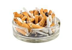 Cigarettes in an ashtray Stock Photos