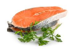 Salmon isolated Stock Photos