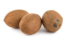 three coconut - stock photo
