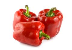 three red peppers - stock photo