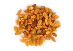 raisins isolated - stock photo