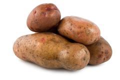 potatoes isolated - stock photo