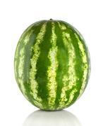 watermelon isolated - stock photo