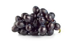 blue grape isolated - stock photo