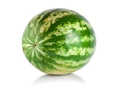 ripe large watermelon - stock photo
