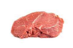fillet of raw meat - stock photo