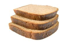 Three slices of bread Stock Photos