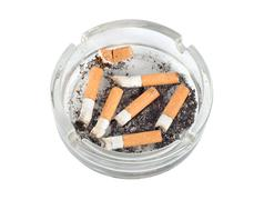 Ashtray isolated (path) Stock Photos