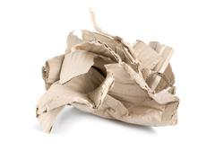 crumpled cardboard - stock photo
