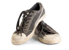 Stock Photo of old sneakers