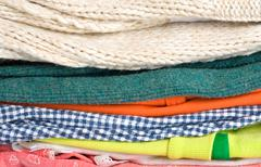 Pile of old clothes Stock Photos