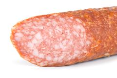 smoked sausage isolated - stock photo