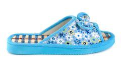 blue slipper isolated - stock photo