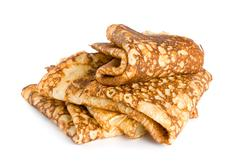 folded pancakes - stock photo