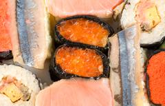 japanese fresh sushi - stock photo