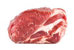 pork tenderloin isolated - stock photo