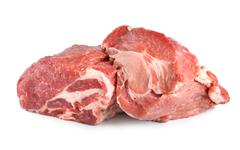 Raw pork tenderloin isolated Stock Photos
