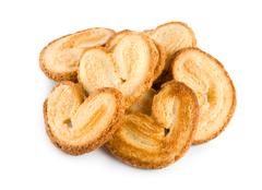 Stock Photo of cookies heart isolated
