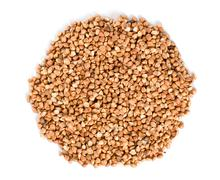 raw buckwheat isolated - stock photo
