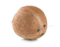 Ripe coconut isolated Stock Photos