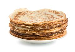 pancakes on a plate - stock photo