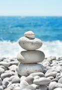 Stack pebbles Stock Photos