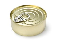canned pate isolated - stock photo
