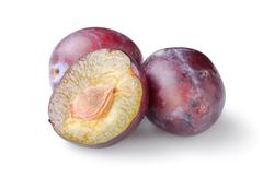 three plums - stock photo