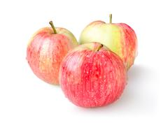 three ripe apples isolated - stock photo