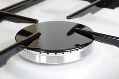 Stove gas burner a fragment Stock Photos