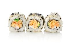 Stock Photo of three rolls on a white background