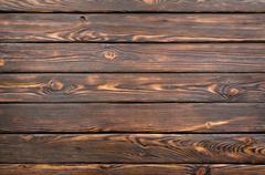 old dark wooden board - stock photo