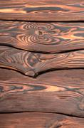 old wooden board vertica - stock photo