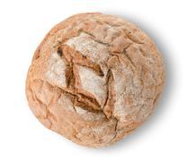 Round black bread Stock Photos