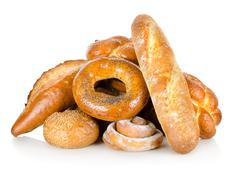 collection of different breads - stock photo