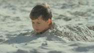 Stock Video Footage of Boy in the sand