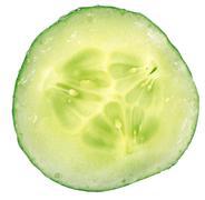 Cucumber circle portion Stock Photos